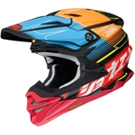 Shoei 2018 VFX-EVO Zinger Full Face Helmet - 10 Matte Orange/Blue/Black
