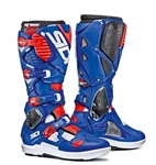 Sidi 2018 Crossfire 3 SRS Boots - White/Blue/Red Flo