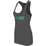 Seven MX 2018 Womens District Tank Top - Charcoal