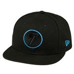Seven 2018 Badge Hat - Black Cyan