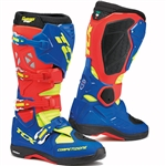 TCX 2018 Comp Evo 2 Michelin Boots - Red/Blue/Yellow Fluorescent