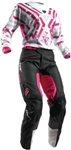 Thor 2017 Womens Pulse Facet Combo Jersey Pant - White/Magenta