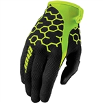 Thor 2017 Draft Comb Gloves - Black/Flo Green