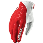 Thor 2017 Draft Indi Gloves - Red/White