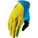 Thor 2017 Draft Indi Gloves - Yellow/Blue