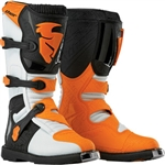 Thor 2018 Kids Blitz Boots - White/Orange
