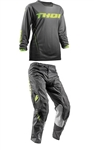 Thor 2018 MTB Womens Pulse Dashe Combo Jersey Pant - Gray/Lime