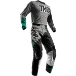 Thor 2018 Pulse Geotec Combo Jersey Pant - Black/Teal