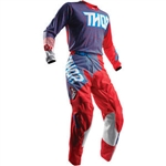 Thor 2018 Pulse Geotec Combo Jersey Pant - Red/Blue
