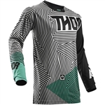 Thor 2017 Pulse Geotec Jersey -  Black/Teal