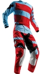 Thor 2018 Pulse Level Combo Jersey Pant - Powder Blue/Red