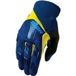 Thor 2017 Rebound Gloves - Navy/Yellow