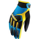 Thor 2017 Spectrum Gloves - Blue/Black/Yellow