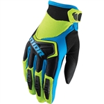 Thor 2017 Spectrum Gloves - Green/Black/Blue