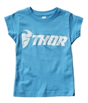 Thor 2018 Toddler Girls Loud Tee - Aqua