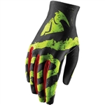 Thor 2017 Void Rampant Gloves - Lime/Red