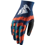 Thor 2017 Void Rampant Gloves - Orange/Teal