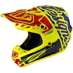 Troy Lee Designs -2017 SE4 Carbon Factory Helmet- Flo-Yellow