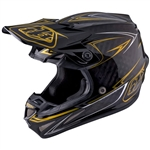 Troy Lee Designs - 2017 SE4 Carbon Pinstripe Helmet- Black