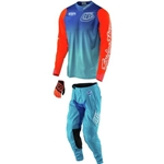 Troy Lee Designs 2017 Youth GP Starburst Combo- Cyan/Blue