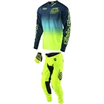 Troy Lee Designs 2017 Youth GP Starburst Combo- Flo Yellow/Navy