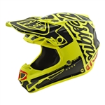 Troy Lee Designs - 2018 SE4 Polyacrylite Factory Full Face Helmet - Yellow