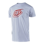 Troy Lee Designs 2018 Logo Tee - White/Red