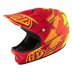 Troy Lee Designs 2017 MTB D2 Fusion Full Face Helmet - Red