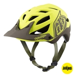Troy Lee Designs 2017 MTB A1 MIPS Classic Helmet - Yellow/Black