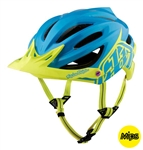 Troy Lee Designs 2017 MTB A2 MIPS Decoy Helmet - Cyan/Yellow