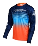 Troy Lee Designs 2017 MTB Sprint Jersey - Starburst Navy/Orange