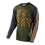 Troy Lee Designs 2017 MTB Super Retro Jersey - Check Army Green
