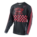 Troy Lee Designs 2017 MTB Super Retro Jersey - Check Black/Red