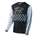Troy Lee Designs 2017 MTB Super Retro Jersey - Check Black/White