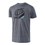 Troy Lee Designs 2018 Precision Tee - Vintage Grey/Snow Blue