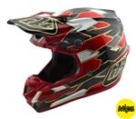 Troy Lee Designs 2018 SE4 Carbon Maze MIPS Full Face Helmet - Black/ Red