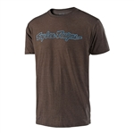 Troy Lee Designs 2018 Signature Tee - Heather Brown