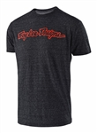 Troy Lee Designs 2018 Signature Tee - Onyx/Red