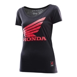 Troy Lee Designs 2017 Womens Honda Wing Shirt - Black