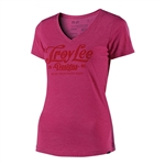 Troy Lee Designs 2018 Womens Spiked V-Neck - Raspberry