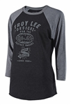 Troy Lee Designs 2018 Womens World Long Sleeves Raglan - Black/Heather Charcoal