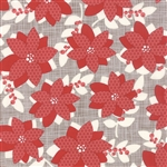 Winterberry Poinsettia Stone Yardage