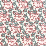 Winterberry Peace On Earth Snow Yardage