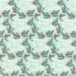 Winterberry Peace On Earth Mint Yardage