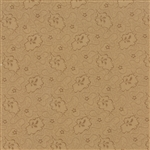 Crazy for Red Tonal Tan Meandering Vines Yardage