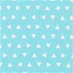 Remix Aqua Triangles Yardage