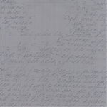 Modern Background Ink Steel Handwriting Yardage