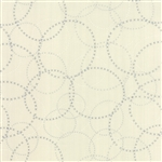 Modern Background Paper Silver on White XOXO Yardage