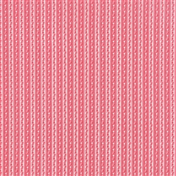 Ambleside Rosy Red Rick Rack Stripe Yardage