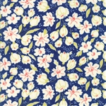 Coney Island Midnight Blue Buttercups Yardage